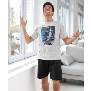 Blancheporte Pyžamo se šortkami Star Wars šedý melír/černá 77/86 (S)