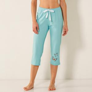 Blancheporte Pyžamové 3/4 kalhoty se středovým motivem motýlů bledě modrá 54
