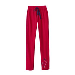 Blancheporte Pyžamové kalhoty s motivem hvězdiček červená 34/36
