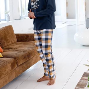 Blancheporte Pyžamové kalhoty, vzor kostky kostka 48/50