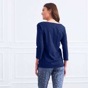 Blancheporte Pyžamové tričko s 3/4 rukávy růžová 38/40