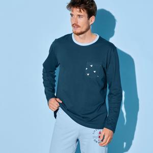 Blancheporte Pyžamové tričko s dlouhými rukávy, námořnicky modré nám.modrá 87/96 (M)