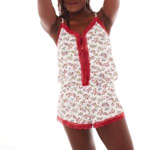 Blancheporte Pyžamové triko s proužky a krátkými rukávy slonová kost 42/44
