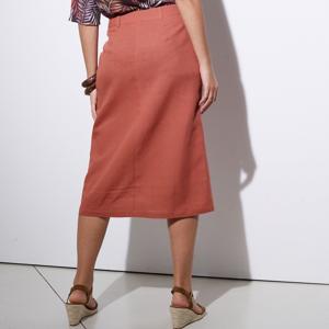 Blancheporte Rovná sukně na knoflíky tomatová 42