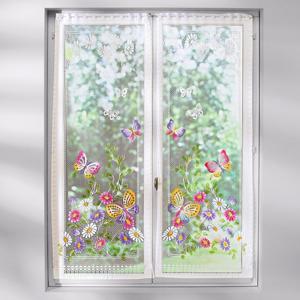 """Blancheporte Rovná záclona """"Motýli"""" barevný potisk 44x120cm"""
