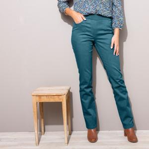 Blancheporte Rovné kalhoty s pružným pasem tyrkysová 54