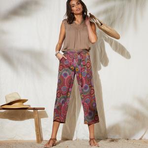 Blancheporte Široké kalhoty s potiskem vícebarevná 38