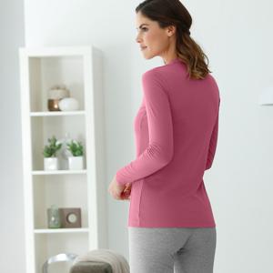 Blancheporte Termo tričko se stojáčkem, dlouhé rukávy růžové dřevo 50