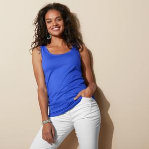 Blancheporte Top ze 100% bavlny, sada 2 ks modrá+růžová 34/36