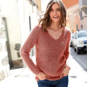 Blancheporte Třpytivý pulovr tomatová 54