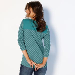 Blancheporte Tuniské tričko v grafickém designu smaragdová 50