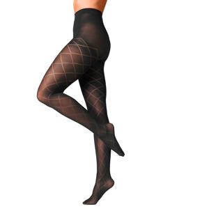 Blancheporte Tvarující punčochové kalhoty se vzorem kosočtverců, sada 2 ks černá 3