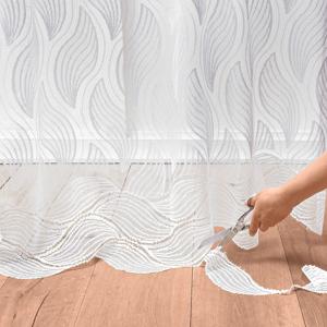 Blancheporte Upravitelná záclona z krajky bílá 240x240cm