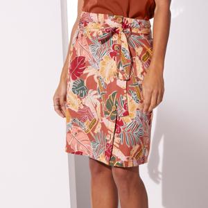 Blancheporte Vzdušná sukně na knoflíky, s potiskem paprika/bronzová 50