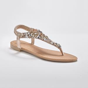 Blancheporte Žabkové sandály se zlatým štrasem zlatá 40