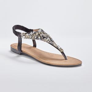 Blancheporte Žabkové štrasové sandály, černé černá 41