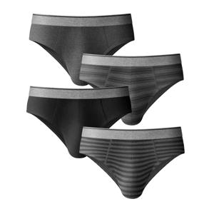 Blancheporte Zavřené slipy s nízkým pasem, sada 4 ks černá 117/124 (3XL)